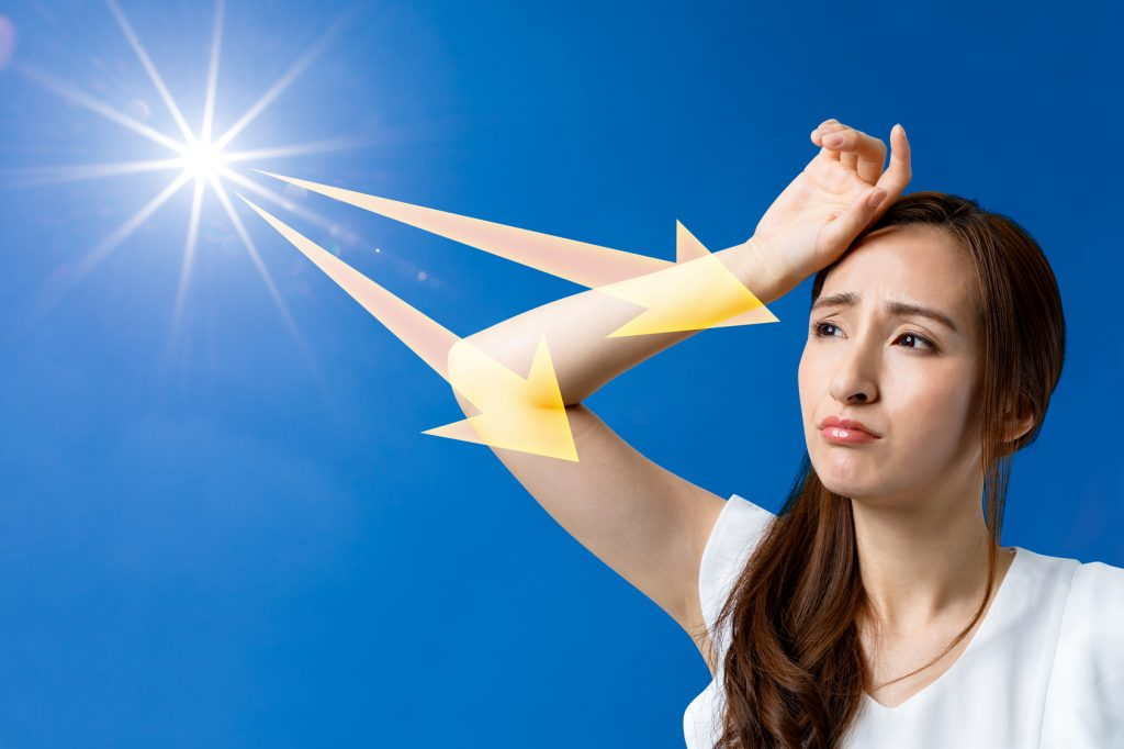 最も紫外線が多い時間帯